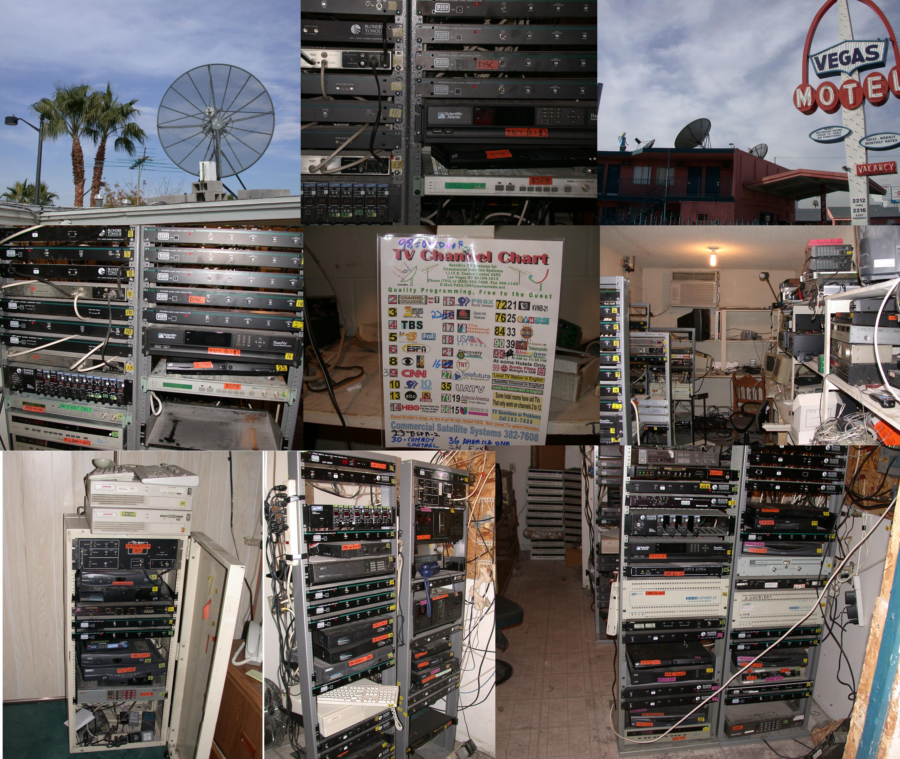 Some Small Satellite TV Systems for Motels